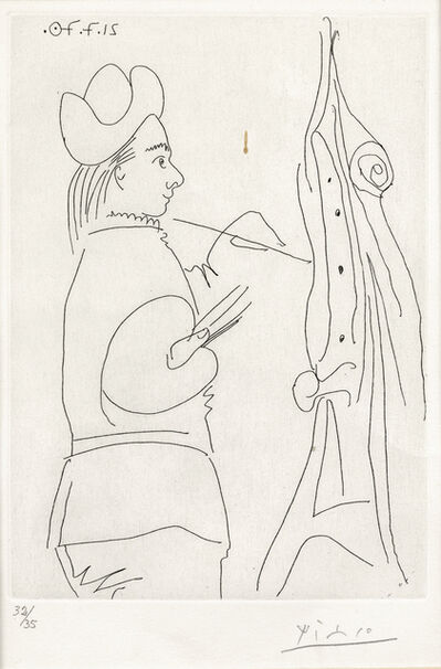 Pablo Picasso, 'Le Peintre devant son chevalet, from Le Goût du Bonheur (Bloch 2013)', 1970