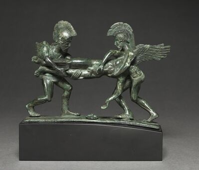 Italy, Etruscan, early 4th Century BC, 'Sleep and Death Cista Handle', 400-375 BC