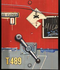 Peter Klasen, 'Manette Fond Gris / Rouge, T489', 1980-1988