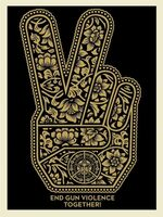 Shepard Fairey, 'End Gun Violence Together Peace', ca. 2019