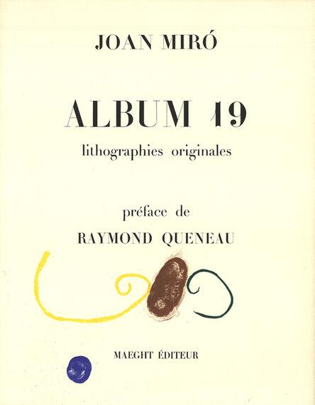 Joan Miró, 'Album 19', 1961