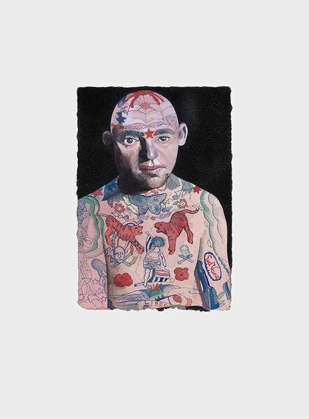 Peter Blake, 'Tattooed People, Lex', 2015
