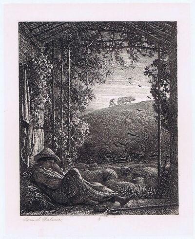 Samuel Palmer, 'The Sleeping Shepherd', 1857