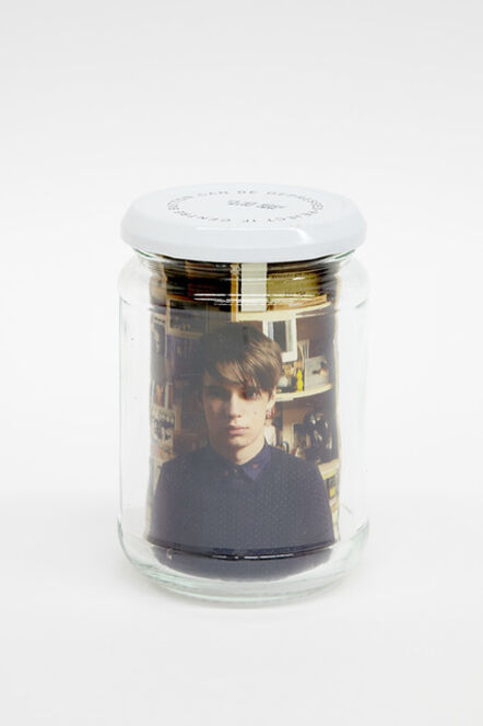 Andy Holden, 'Utility Jam Jar (Alex as Andy)', 2014