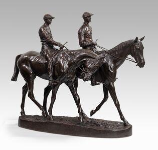 Emmanuel Fremiet, 'Racehorses and jockeys (1885)', ca. 1880