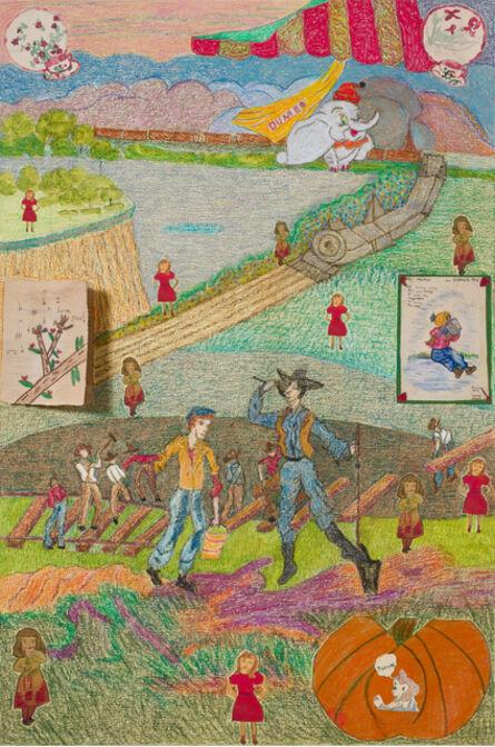 Joyce Kozloff, 'Working on the Railroad', 2017