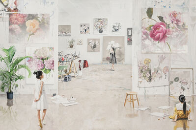 Bae Joon Sung, 'The Costume of Painter - at the studio-flower doodling 2', 2020