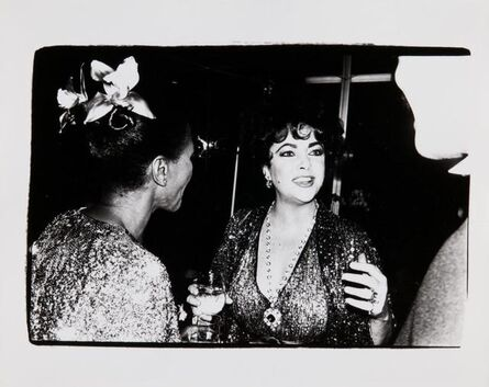 Andy Warhol, 'Andy Warhol, Photograph of Elizabeth Taylor with an Unidentified Couple, 1981', 1981