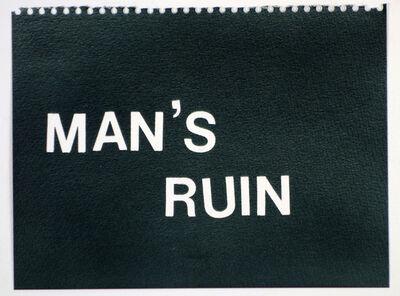Betty Tompkins, 'Man's Ruin (black)'