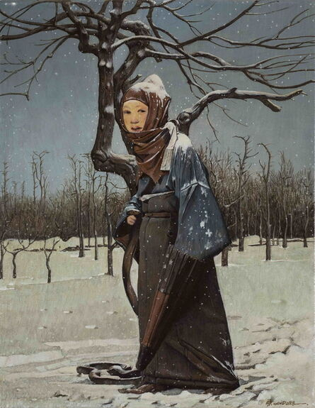 Wei Dong, 'Snowy Waiting', 2014