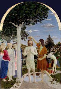 Piero Della Francesca, 'The Baptism of Christ', ca. 1450