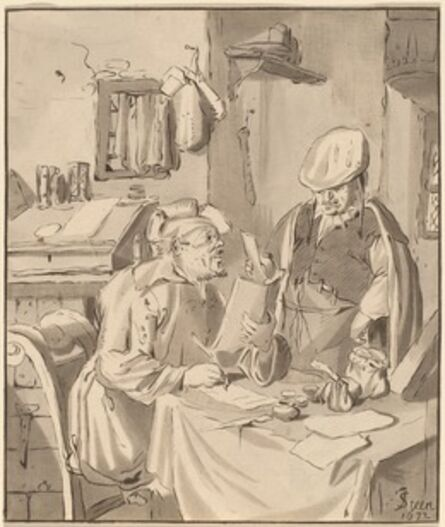 Cornelis Ploos van Amstel and Bernhard Schreuder after Jan Steen, 'The Collector', 1777