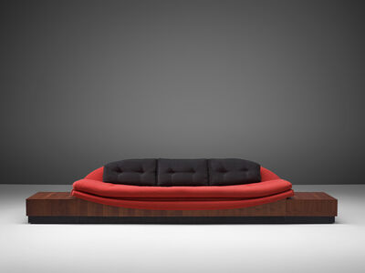Adrian Pearsall, ''Platform Gondola' Sofa with Side Tables', 1960s