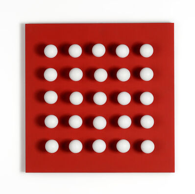 Antonio Asis, 'Boules tactiles blanches sur fond rouge', 1969 -2015