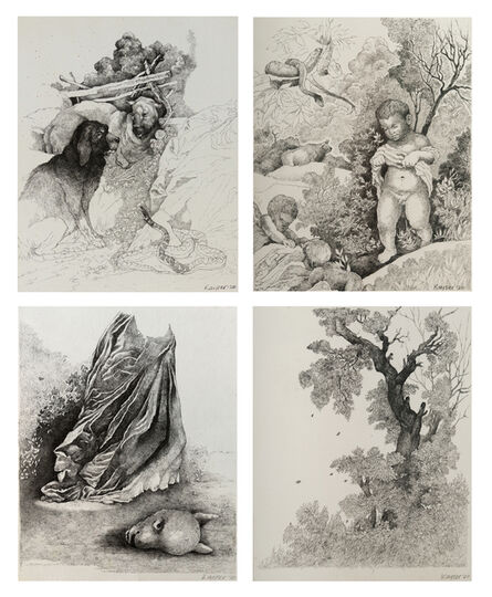 Andrew Kayser, 'Welcome to the Garden - Suite of 4 drawings', 2020