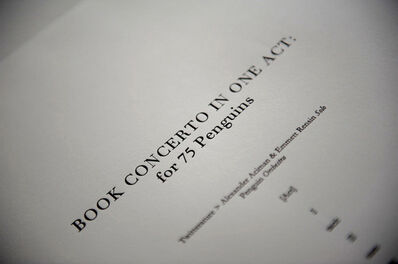 Elisabeth S. Clark, 'Book Concerto in One Act: for 75 Penguins', 2010