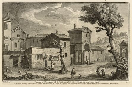 Giuseppe Vasi, 'Chiesa e monastero di S. Cosimato, delle suore francescane osservanti', 1747-1801