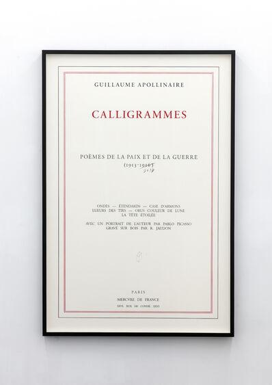 Jorge Méndez Blake, 'Calligrammes. Poèmes de la paix et de la guerre 1913 - 2016', 2016