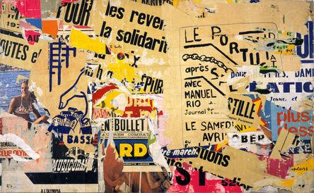Jacques Villeglé, 'Belleville <<Le Portugais>>', 30 juin 1971