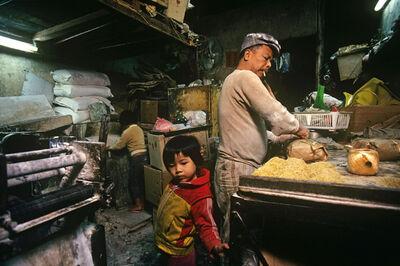Greg Girard, ''Noodle Factory and Family Residence' Hong Kong', 1989