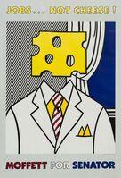 Roy Lichtenstein, 'Jobs... Not Cheese!', 1982