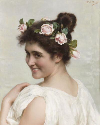 Tito Conti, 'An Italian Beauty', 19th Century