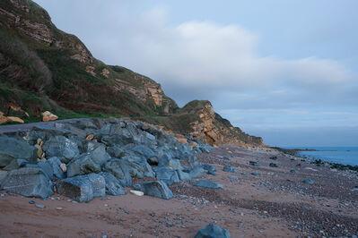 Donald Weber, 'Gold Beach, Sector How, Green. October 4, 2013, 5:45am. 17 Celsius, 82% RELH, Wind SW, 13 Knots. VIS: Good, Broken Clouds', 2013