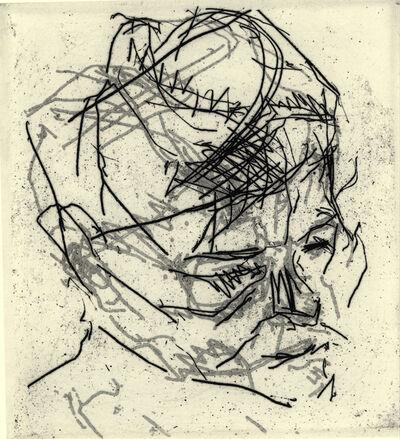 Frank Auerbach, 'R. B. Kitaj', 1980