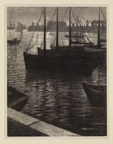 Christopher Richard Wynne Nevinson, 'Le Port', 1919