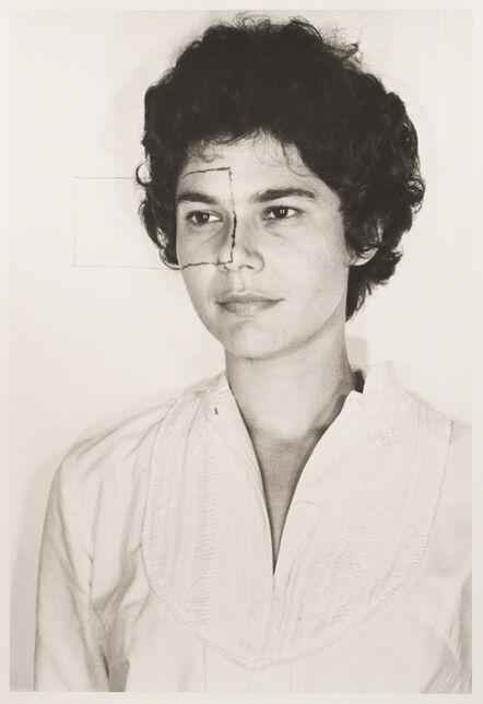 Liliana Porter, 'Untitled, (Self portrait with square II)', 1973