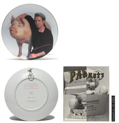 "Jeff Koons, '""Signature Plate"", Parkett Editions Zurich, Edition of 80, with Original Parkett #19 Copy.', 1989"