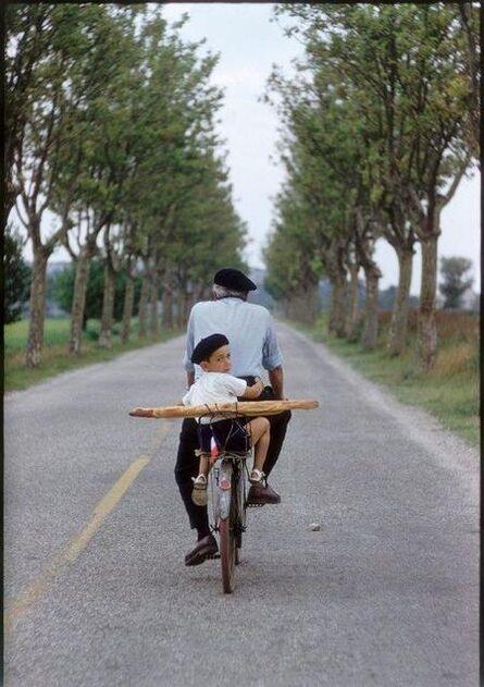 Elliott Erwitt, 'Boy, Bicycle and Baguette, France, Provence', 1955