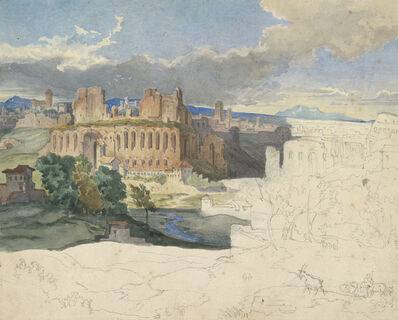 Carl Rottmann, 'The Ruins of the Imperial Palaces in Rome', 1831