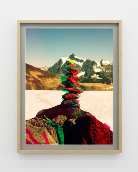 Peter Funch, 'Variation of Cairn on Ptarmigan Ridge with Mt. Shuksan in Background (A)', 2014