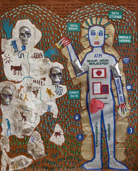 Joe Caruso, 'PM/AM (Prehistoric Man/Artificial Man)', 2021