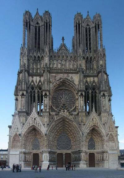 'Reims Cathedral', 13th -15th century