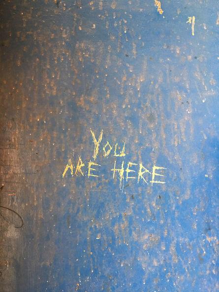 "Richard Misrach, '""You are here,"" Desert Center, California', 2017"