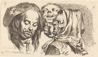 Johann Eleazar Schenau, 'Old Woman Scolding a Man', 1765