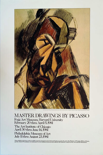 Pablo Picasso, 'Master Drawings by Picasso Continuous Tone (No Dots) Special Printing, Gallery Poster ', 1981