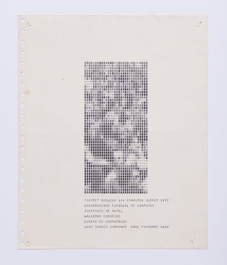Waldemar Cordeiro, 'Gente Redução 1/4', 1972