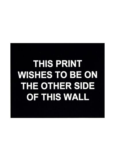 Laure Prouvost, 'This print wishes to be on the other side of this wall', 2016