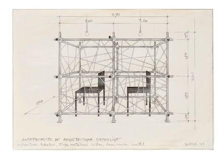 Horacio Zabala, 'Anteproyecto de arquitectura represiva', 1973