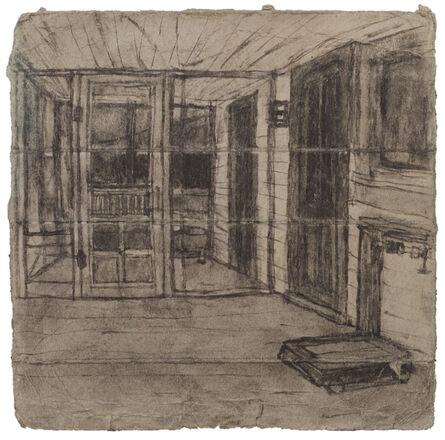 James Castle, 'Untitled ( Porch with scale; verso: landscape)', n.d.