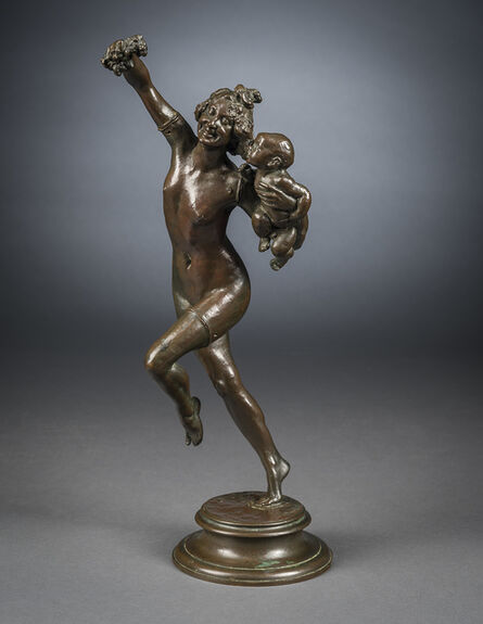 """Frederick William MacMonnies, 'Pin Model for """"Baccante and Infant Faun"""" ', 1893"""