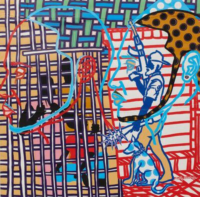 Boris Nzebo, 'Fermés dans une cage', 2018