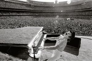 Terry O'Neill, 'Elton John at the Dodgers Stadium LA', 1975