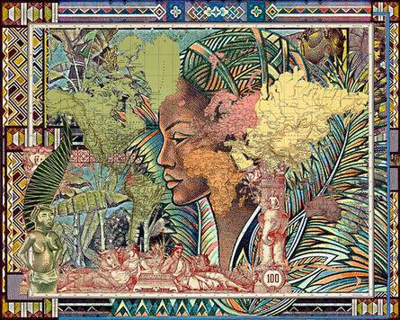 MALALA ANDRIALAVIDRAZANA, 'Figures, 1889, Planisfero, 2015', 2015