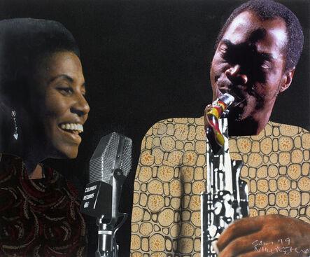 Sam Nhlengethwa, 'Fela and Miriam', 2019