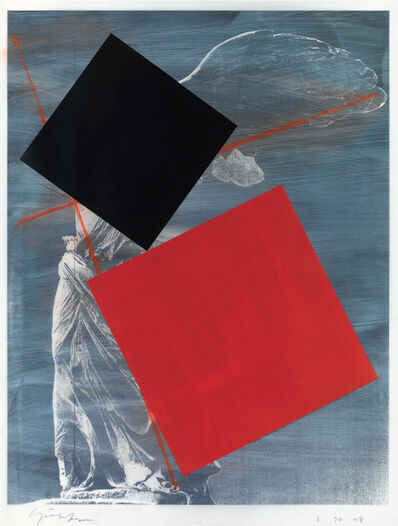 Cris Gianakos, 'Nike of Samothrace with Black and Red Squares', 2008