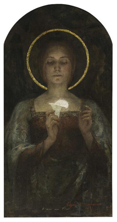 Edgar Maxence, 'Pureté (Purity) or Saint with Calla Lily', 1895